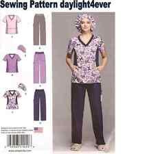 Women Scrubs Top Pants Hat Sewing Pattern 1020 Size 20W-28W New 3 Styles #v