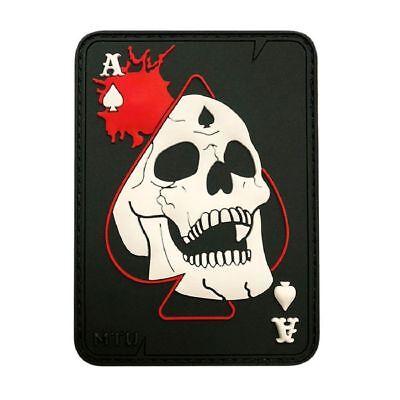 3D-PVC Rubber-MTB8 Ace Of Spade Dead Card Skull Hook Patch