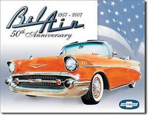 1957 chevy bel air retro tin sign vintage style chevrolet car wall image is loading 1957 chevy bel air retro tin sign vintage teraionfo