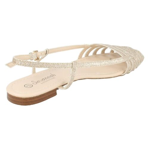 SALE Ladies F0881 Glitter buckle ankle strap By Savannah WAS £17.99 NOW £9.99
