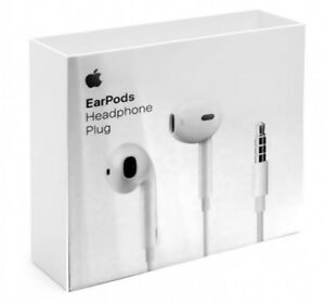 f09b825eb31 New Apple Wired EarPods with 3.5mm Headphone Plug - White MNHF2AM/A ...