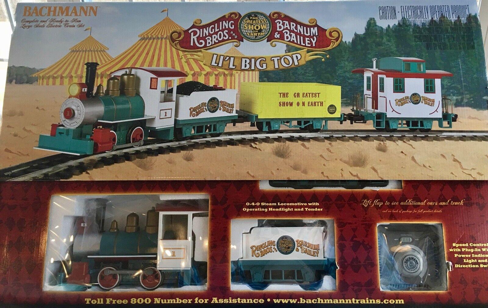 New Bachmann RINGLING BROS & Barnum Bailey Li'l Big Top Circus Train-ship free