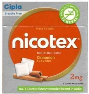 Cipla-Nicotex-Nicotine-Gum-2-mg-9x10-Pieces-Cinnamon-Stop-Smoking-Aid-90-Count