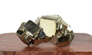 100ct-Golden-Pyrite-Cubes-Geode-Cluster-Mineral-Natural-Crystal-Rough-Stone-Peru