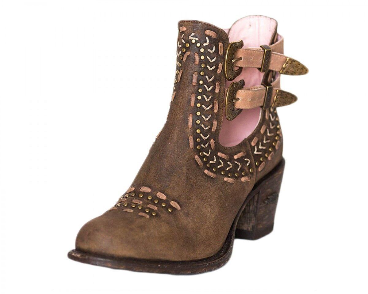 Miss Macie Geez Louise Brown Buckle Ankle Boot U2009-01