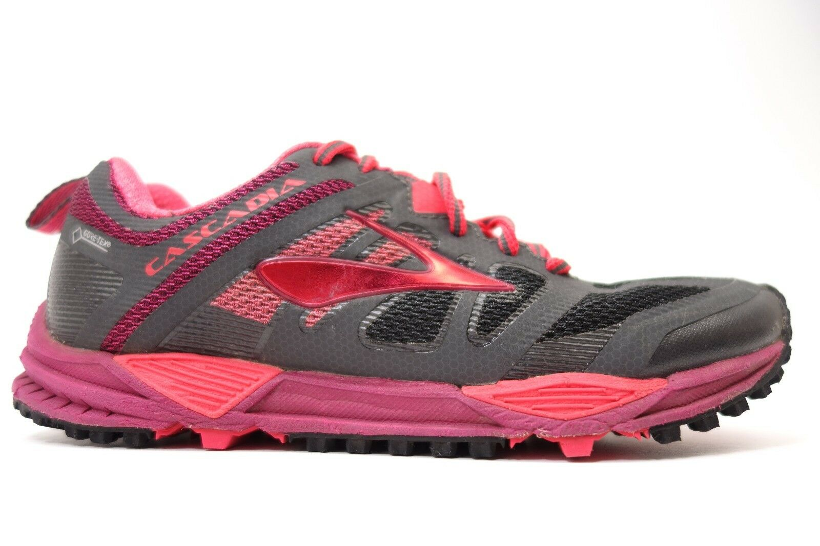 Damenschuhe Brooks Pink Cascadia 11 GTX Athletic Running Training Schuhes Größe 6.5