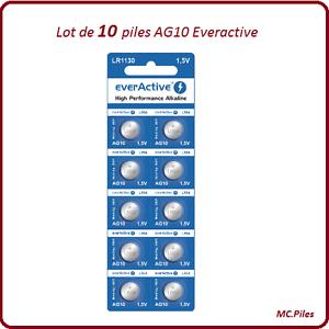 lot 10 piles boutons ag10 lr54 alcaline everactive livraison rapide et gratuite ebay. Black Bedroom Furniture Sets. Home Design Ideas