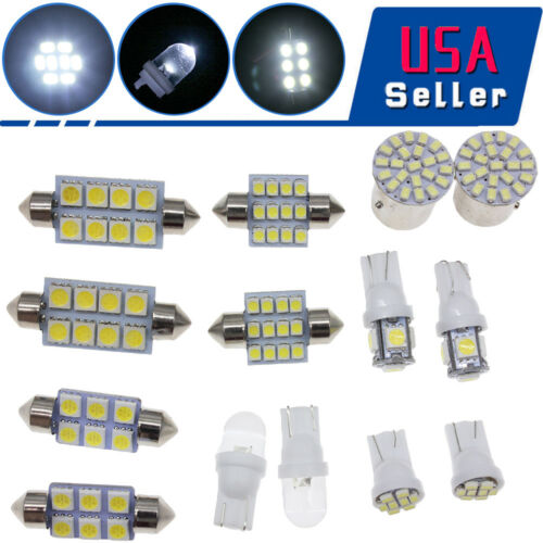 14pcs White LED lights T10 36mm Dome Map /& Tag lamp for Interior package Kit USA