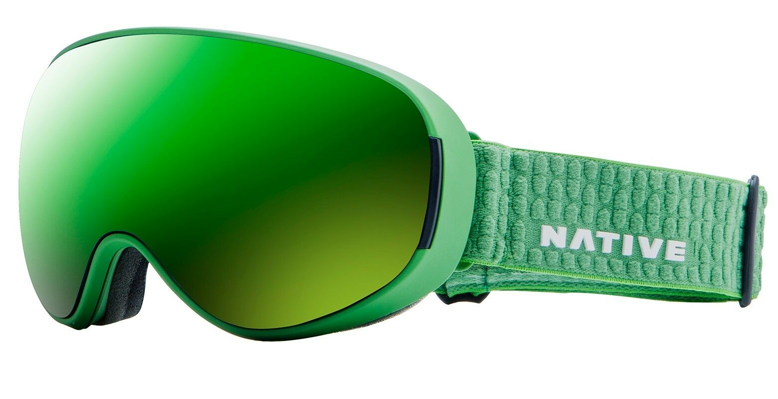 NEW  Native Eyewear Goggles DropZone - Medium Fit - Green Strap - Wide View Lens  no hesitation!buy now!