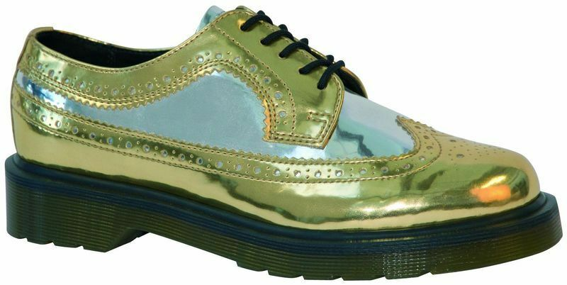Dr Martens 5 Hole 3989 gold Pewter 14147971 Original Doc