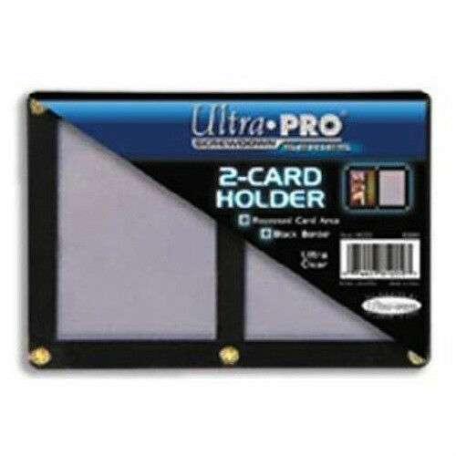 Ultra Pro 4-Screw 2-Card Black Border Screwdown Card Holder Recessed Ultra Clear