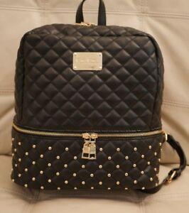 Image Is Loading New Wt Bebe Danielle Large Black Backpack Studs