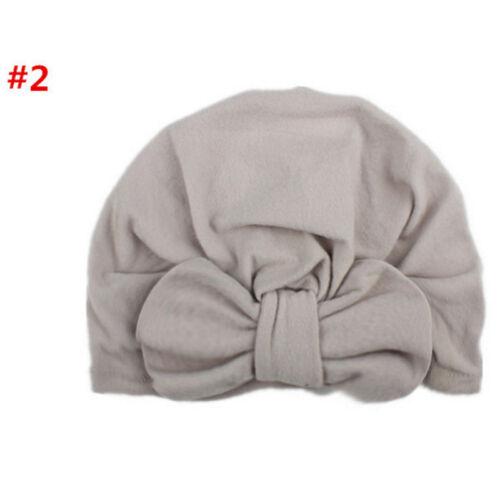 Cute New Toddler Kids Baby Boy Girl Turban Cotton Beanie Hat Winter Warm Cap