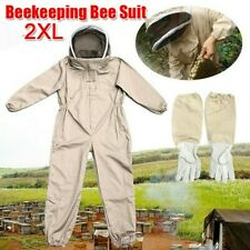 2xl Full Body Anti Bee Suit Bee Keeper Suit Veil Hood Safe Protectivegloves