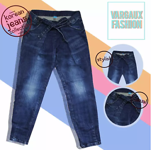 Vargaux-039-s-Dae-Korean-Style-Baggy-Denim-Pants-for-Women-Size-31