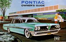 1961 Pontiac Owners Manual User Guide Reference Operator Book Fuses Fluids