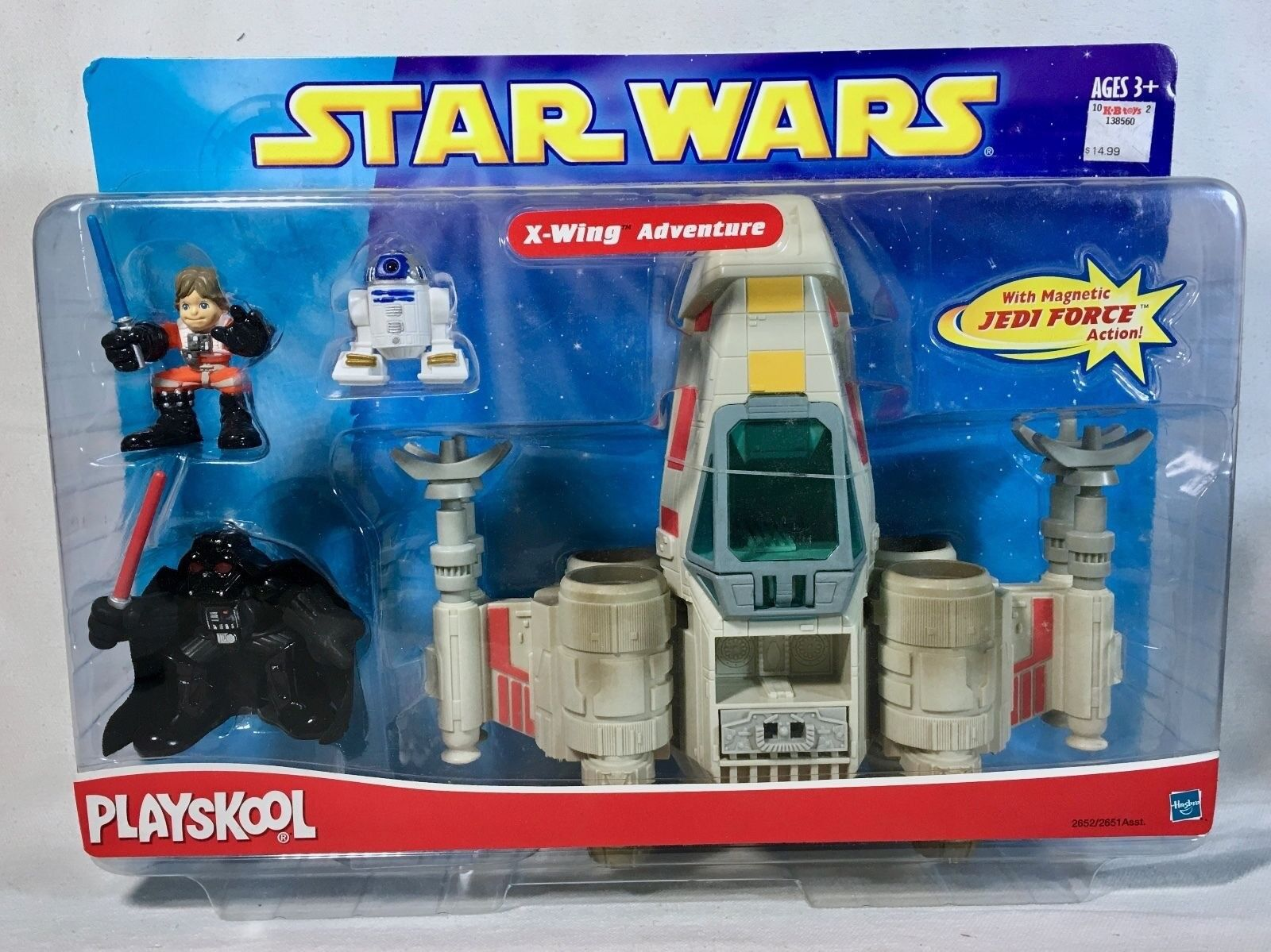 Set of 2 Playskool Star Wars Playsets  Duel with Darth Maul & X-Wing Adventure
