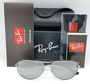 e680846074 NEW Rayban sunglasses RB8313 004 K6 58 Carbon Fibr Polarized Silver ...