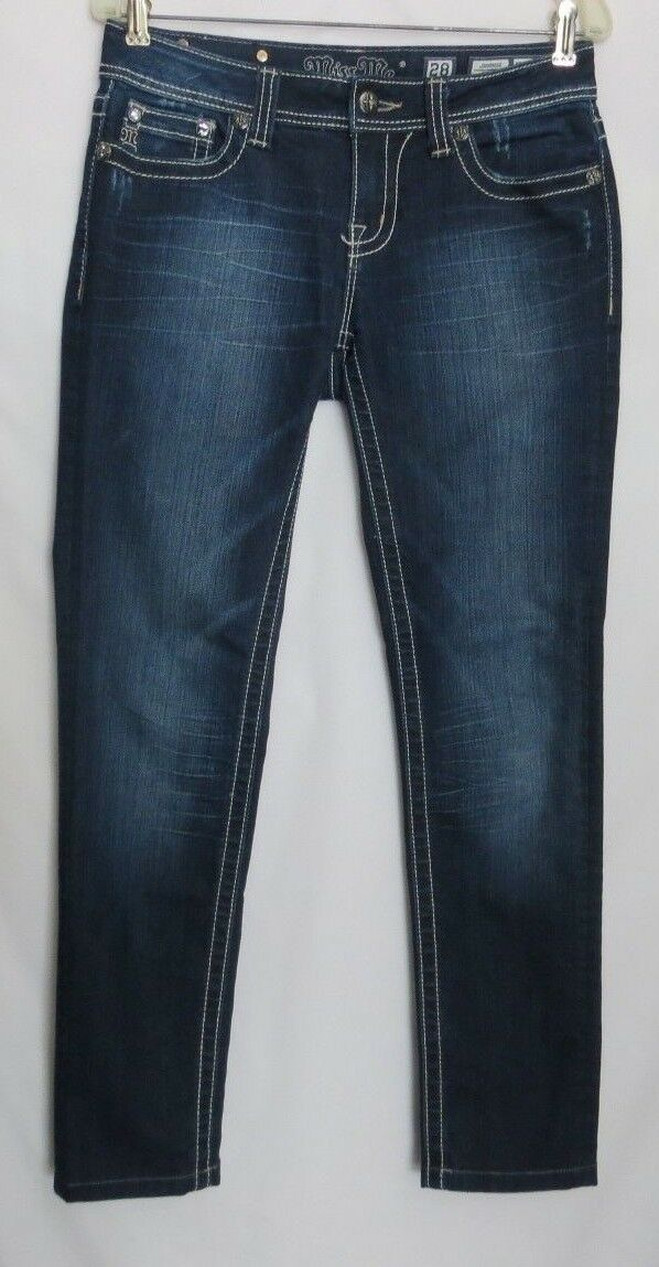Miss Me Studded Bling Embellished  Skinny Denim Jeans Womens Size  28