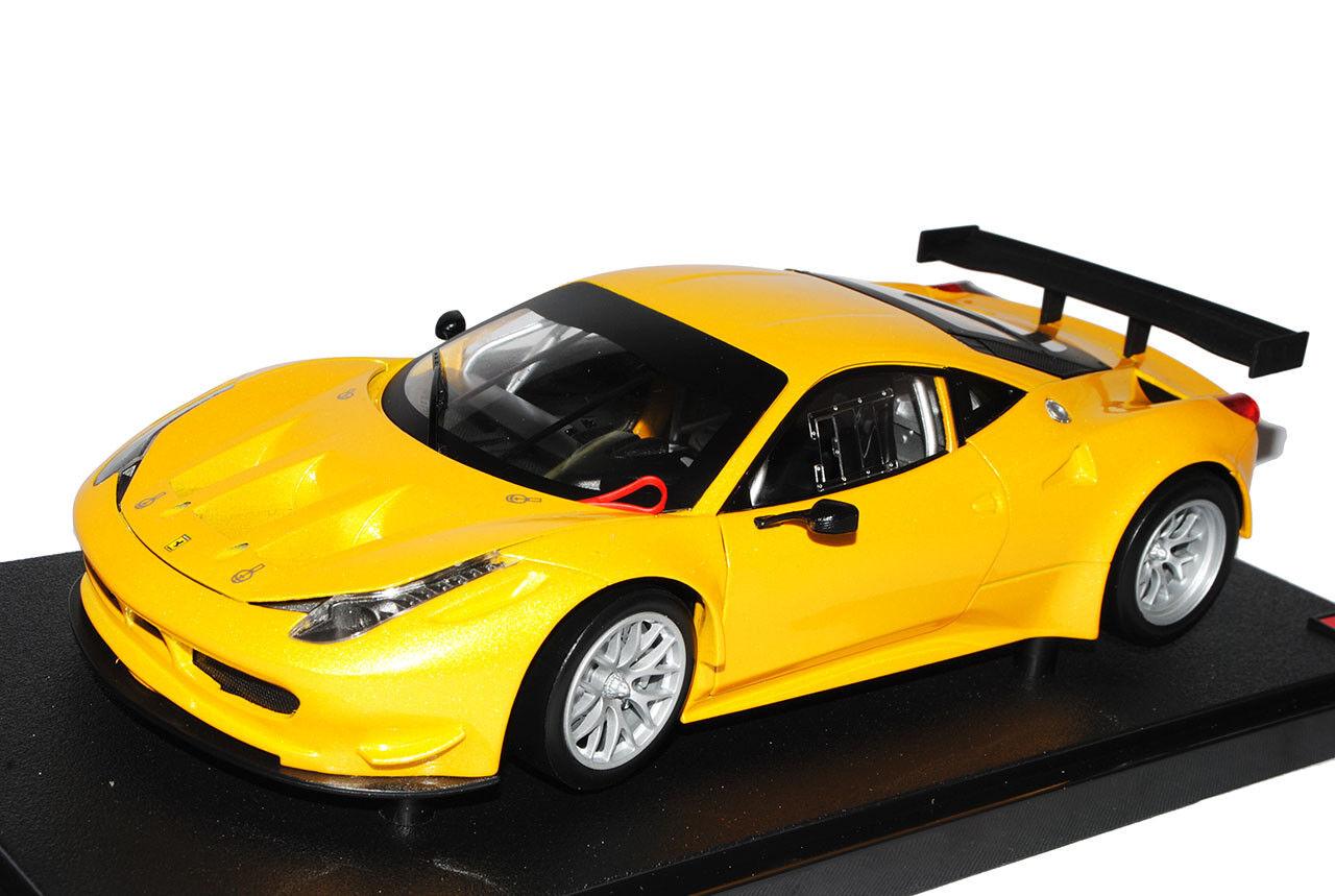 Ferrari 458 458 458 Italia Coupe GT2 Challenge yellow Ab 2009 1 18 Mattel Hot Wheels Mod.. d30230