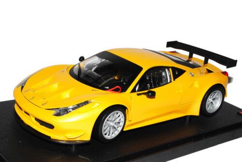 Ferrari 458 Italia Coupe GT2 Challenge Gelb Ab 2009 1//18 Mattel Hot Wheels Mod..