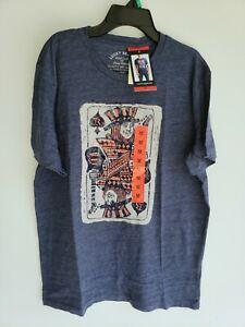 LUCKY-BRAND-Men-039-s-Graphic-T-Shirt-Spade-King-Navy