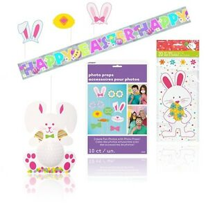 Easter party decorations bunny banner cello cellophane gift bags image is loading easter party decorations bunny banner cello cellophane gift negle Gallery