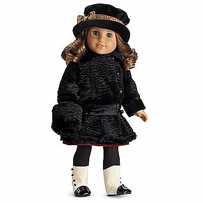 American Girl Rebecca/'s Winter Coat and Muff NIB NRFB Black Retired