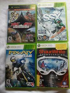 360-Lot-MX-vs-ATV-Alive-SSX-Shaun-White-Snowboarding-Original-xbox-Unleashed