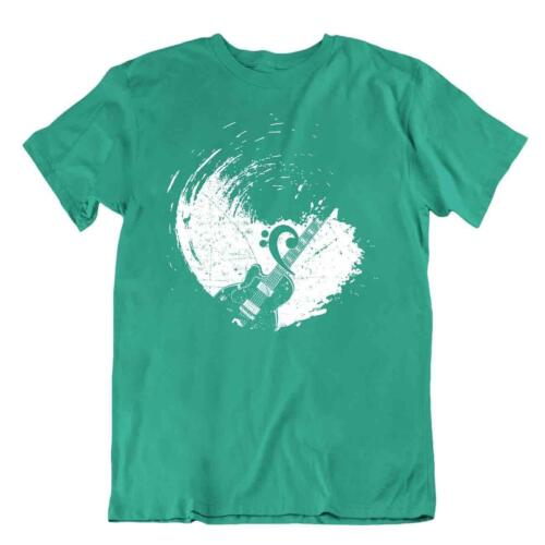 Music Guitar Grafity Tshirt Vintage T-Shirt Cool Design Tee