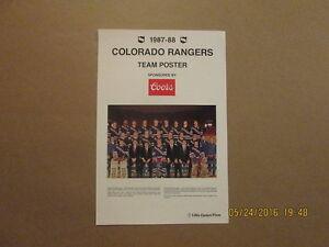 IHL Colorado Rangers Vintage 1987-88 Team Photo Poster