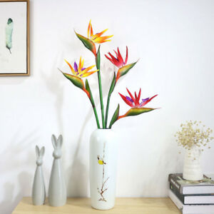 Details About 1x Artificial Flower Bird Of Paradise Fake Plant Silk Strelitzia Reginae Eyeful