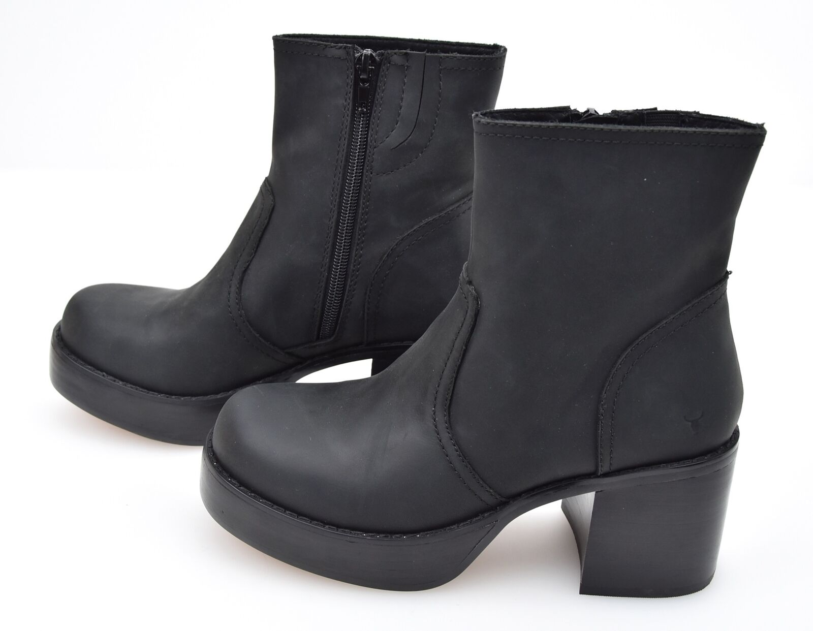WINDSORSMITH WOMAN ANKLE BOOTS BOOTIES WINTER LEATHER LEATHER LEATHER BLOCK HEELS CODE ELIZA 7b78ba