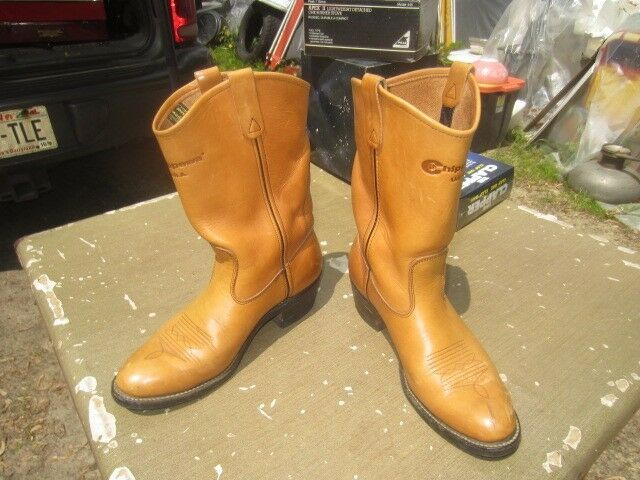 CHIPPEWA BROWN Stiefel TAN RANCH COWBOY PULL ON Stiefel BROWN 8 1/2 B ee6a07