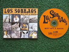 Latin Pop LOS SOBRAOS **Que voy a hacer** ORIGINAL Spain 1999 PROMO CD SINGLE