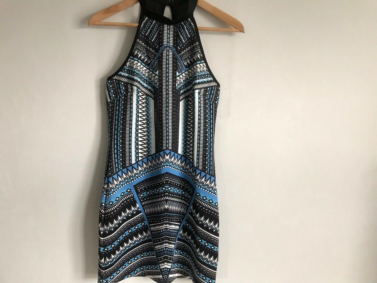 Dotti Mini Short Dress Multi-Color Aztec Print Ro… - image 2