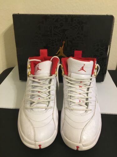 Air Jordan 12 FIBA 8.5 US Size Red Metallic Gold M