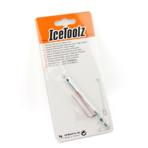 IceToolz 12S4 Bike Bicycle Spoke Nipple Wrench Tightener Tool for Deep Rims