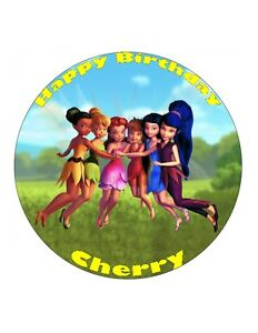 Personalised 19cm Tinkerbell Edible Wafer Paper Cake Topper