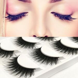 Details about Long Lasting Lashes False Eyelashes Natural Women Makeup  Component Hot Sell QP
