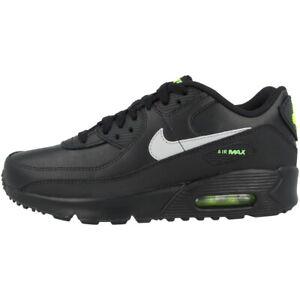 Details zu Nike Air Max 90 GS Schuhe Leder Freizeit Sneaker Turnschuhe black CV9608 001