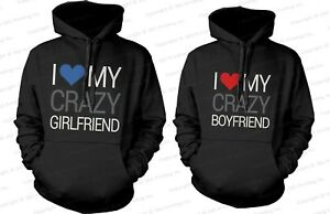 b976fe73d9 Image is loading Couples-Hoodies-Adorable-Matching-Clothes-I-Love-My-