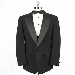Elegant-Mens-42R-Black-1-Button-Formal-Tuxedo-Dinner-Jacket-422