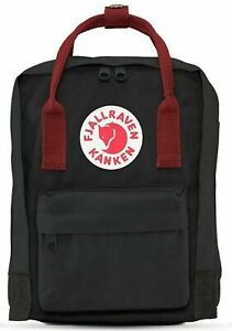 d6448cef1 Fjallraven Versatile Kanken Mini Backpack Waterproof F23561 Black Ox Red