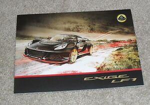 Lotus Exige LF1 Brochure Flyer 2014 - Lotus F1 Team | eBay