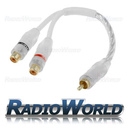 Rca Y Splitter lead//adapter 2 X Hembra A 1 X Macho Blanco Cable De Alta Calidad