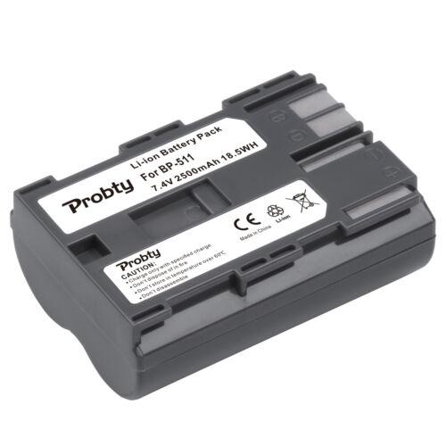 Cargador doble para Canon EOS 10D 10Da 20D 30D 40D 50D 5D BP-512 BP-511 Batería