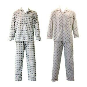 NEW-Men-039-s-Cotton-Light-Weight-Pajamas-Pyjamas-PJs-Set-Two-Piece-Long-Sleeve