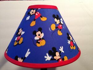 Disney mickey mouse blue fabric childrens lamp shademickey mouse image is loading disney mickey mouse blue fabric children 039 s aloadofball Gallery