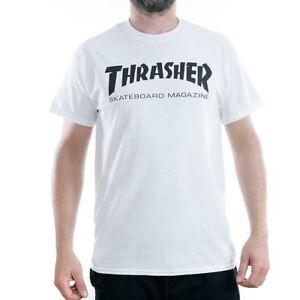 578295748b5c Thrasher Magazine White Skate Mag Logo T-Shirt New BNWT Sk8 Tee Free ...